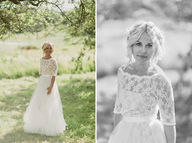 tulle skirt, lace top