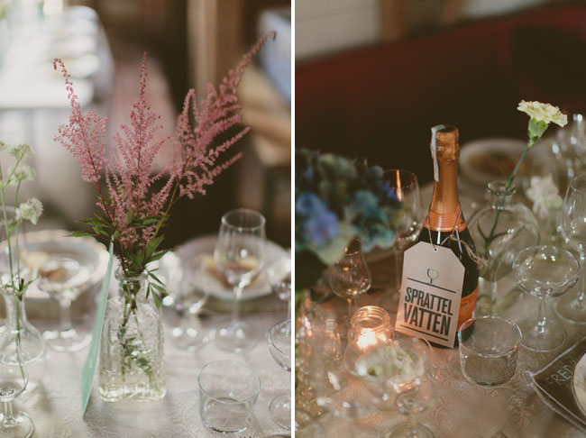 bottle wine table number tags