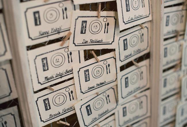 dinner escort card tags