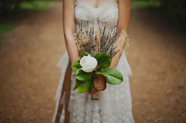 lavender and leaf bouquet