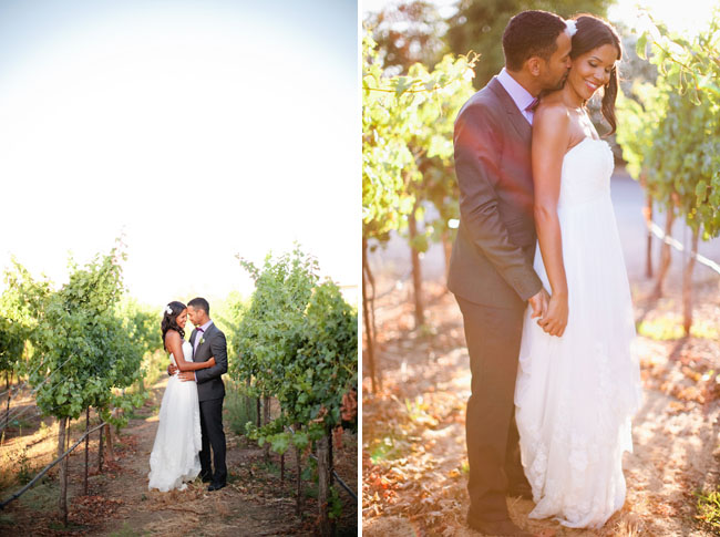 bride and groom winery