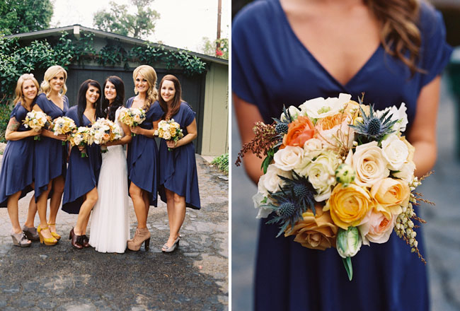 bridesmaids in navy