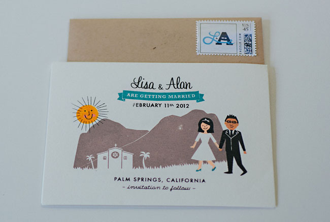 peronalized wedding invitation