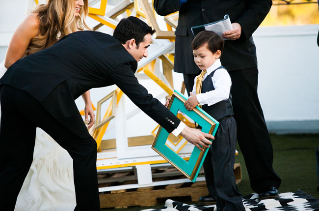 ring bearer holding frame