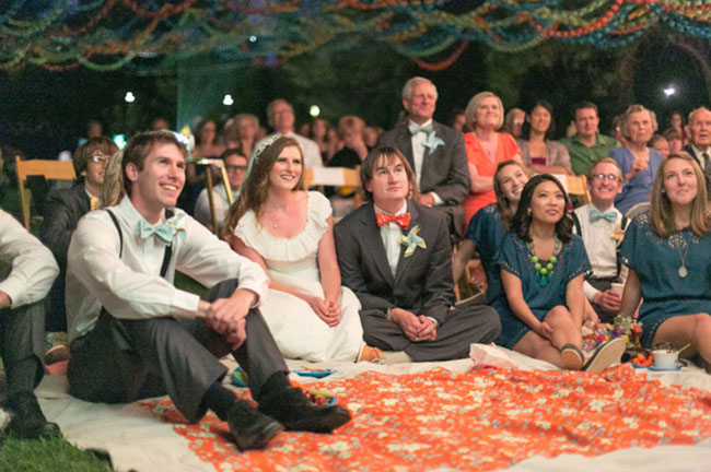 wedding slideshow with guests