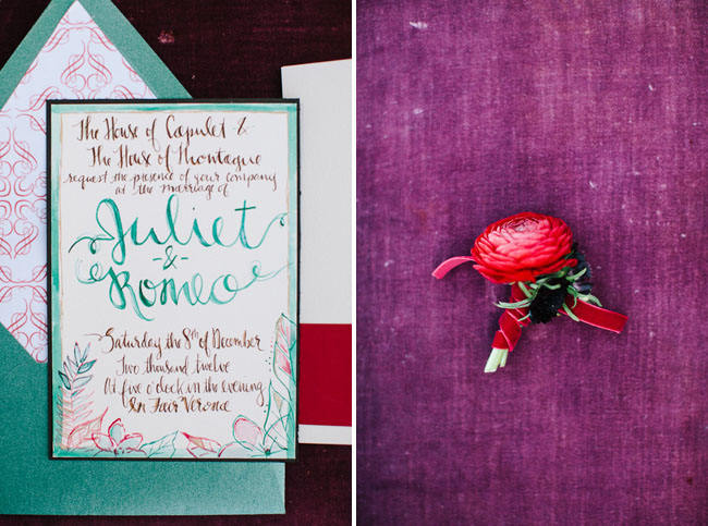 Romeo And Juliet Wedding Invitations: Love Conquers All: A Romeo & Juliet Inspired Shoot