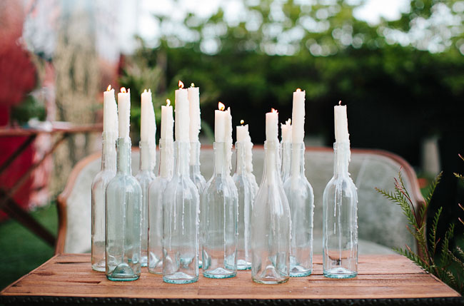 bottle candle wax