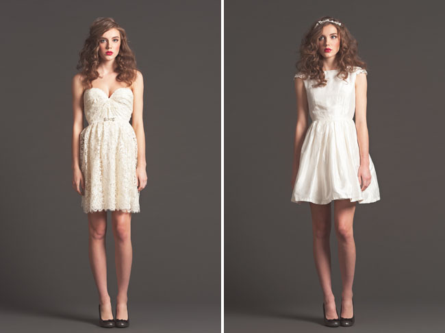 short wedding dress sarah seven