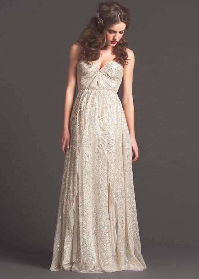 silver sequin wedding dress sarah seven