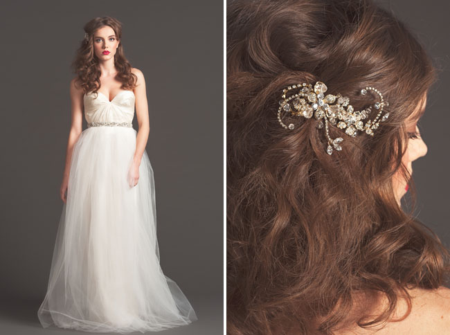 wedding dress with tulle sarah seven