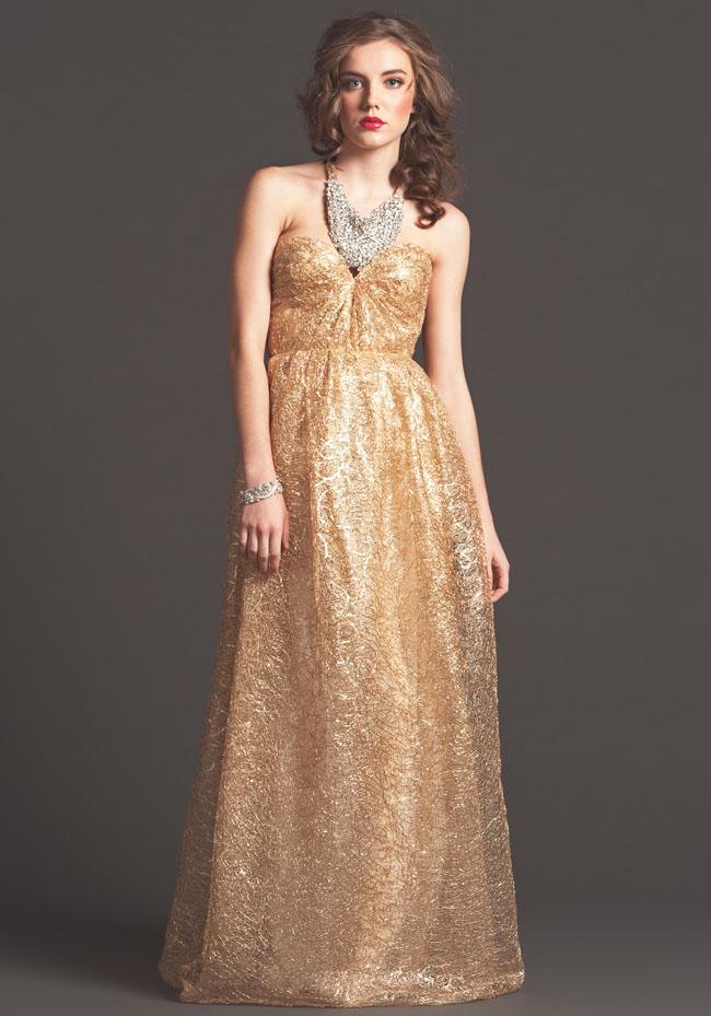 gold wedding dress sarah seven