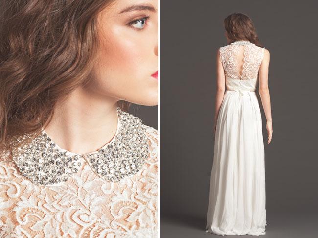 lace wedding dress details sarah seven