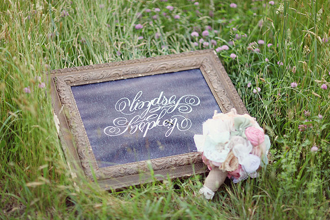 calligraphy names in frame