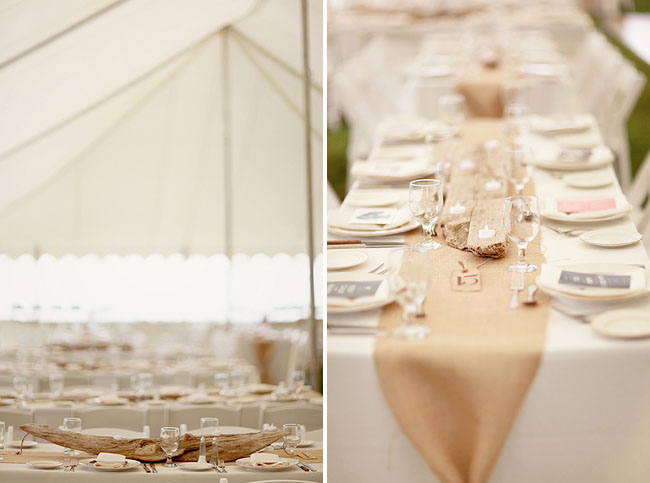 beige table runners