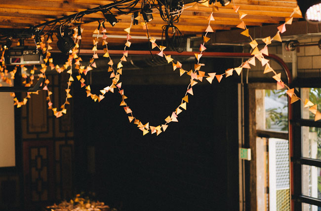 hanging triangle bunting garland