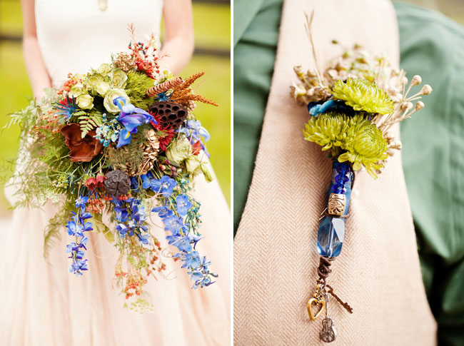 blue whimsical bouquet