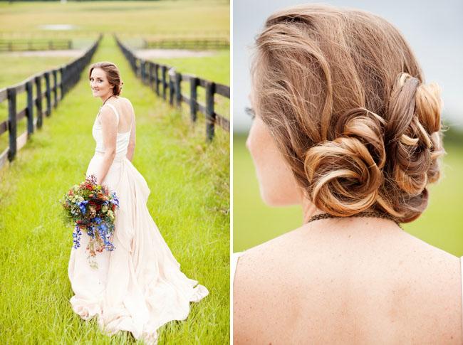 pin curls in hair