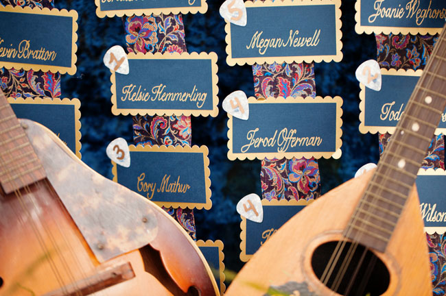 music escort cards