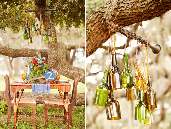 hanging bottles chandelier
