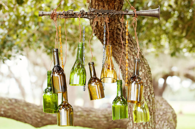 hanging bottle chandelier