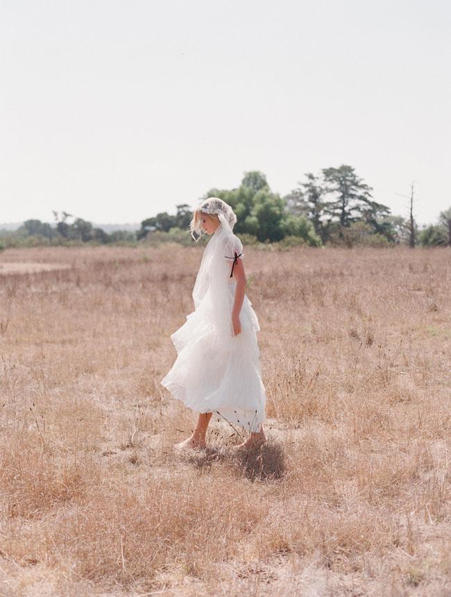 ruffle layered wedding dress