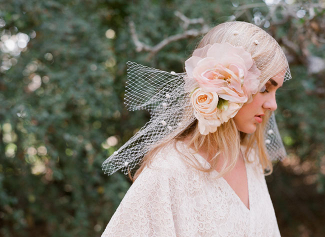 flower head wrap with tulle