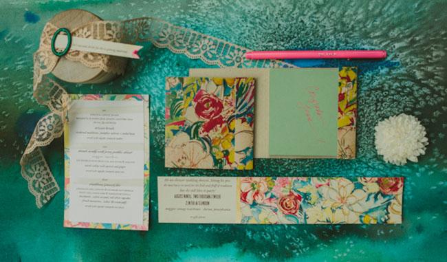 floral bridal shower invite