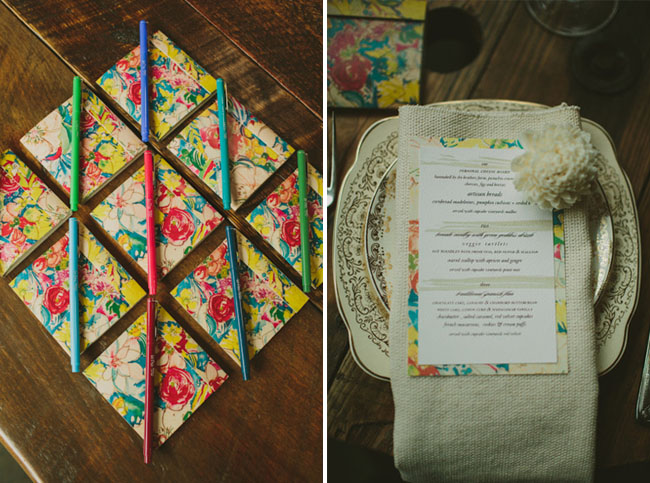 floral writing pads