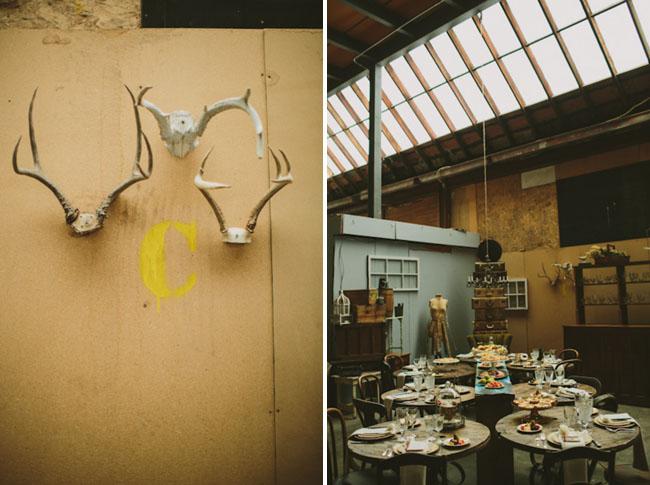 Warehouse Bridal Shower. Antlers