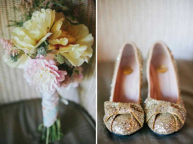 gold flecked heels