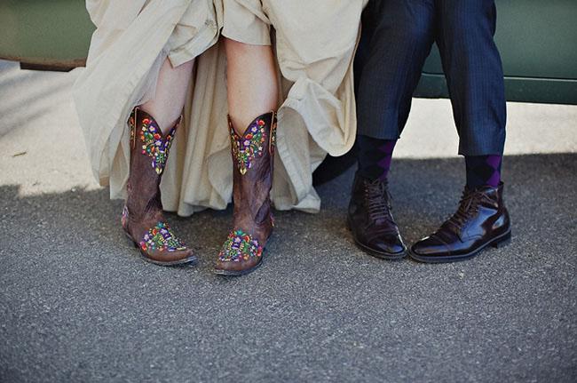 brides cowboy boots