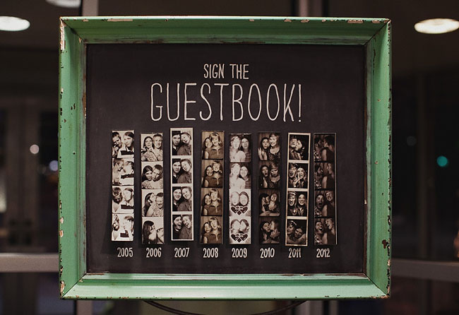 photobooth strip guest book