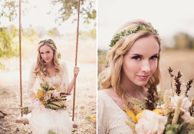 bohemian bridal shoot