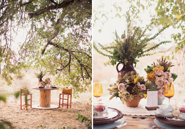 bohemian tablescape