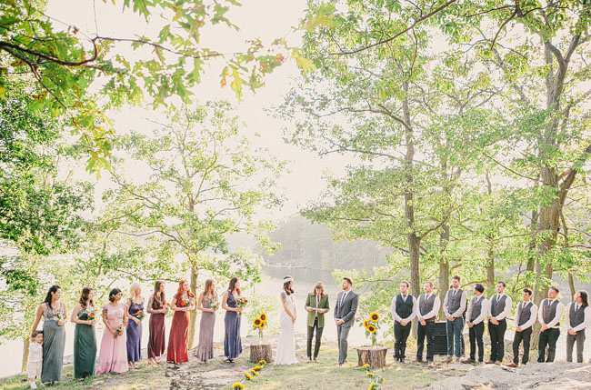 rustic ceremony