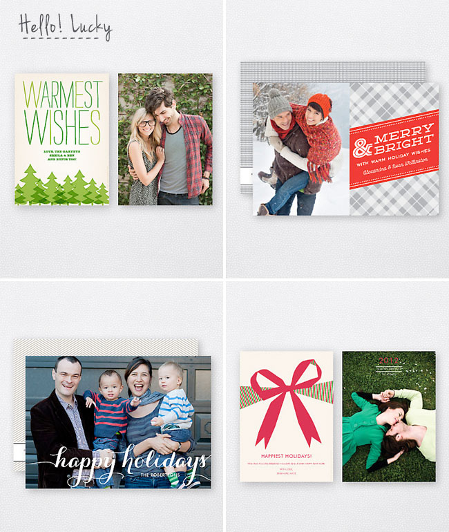 hello lucky holiday cards