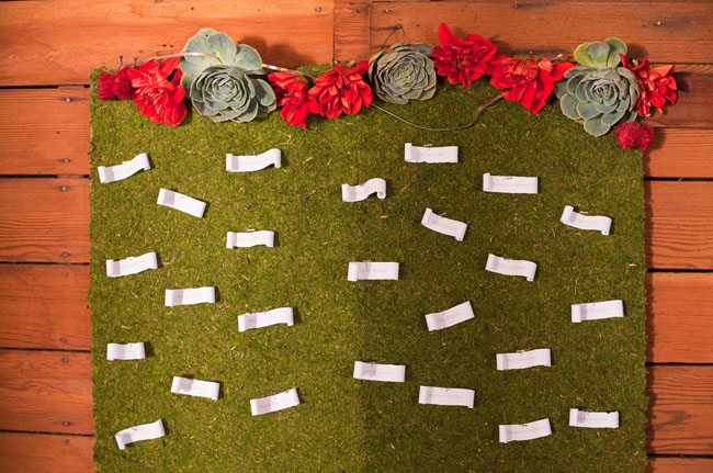 moss escort card holder