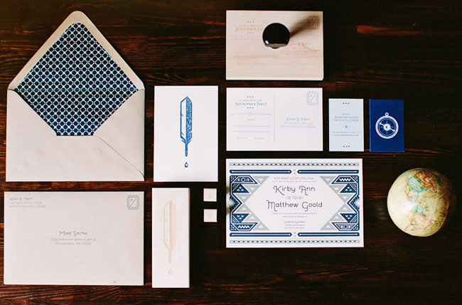 stamp wedding invitation