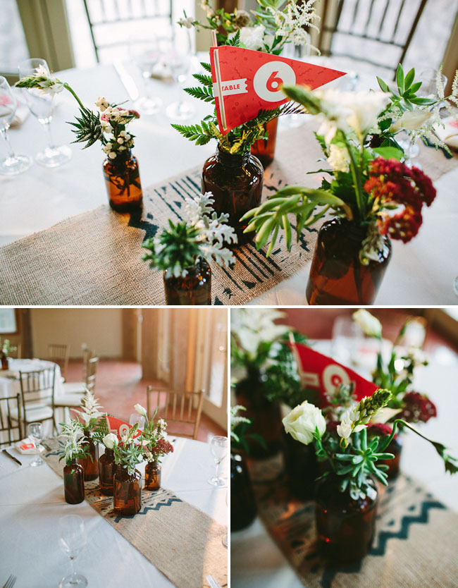bottle centerpieces