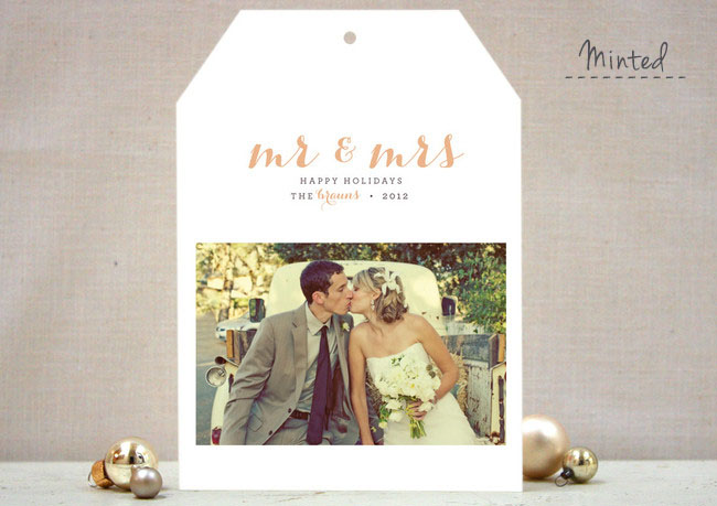 Holiday Cards for Newlyweds | Green Wedding Shoes | Weddings ...