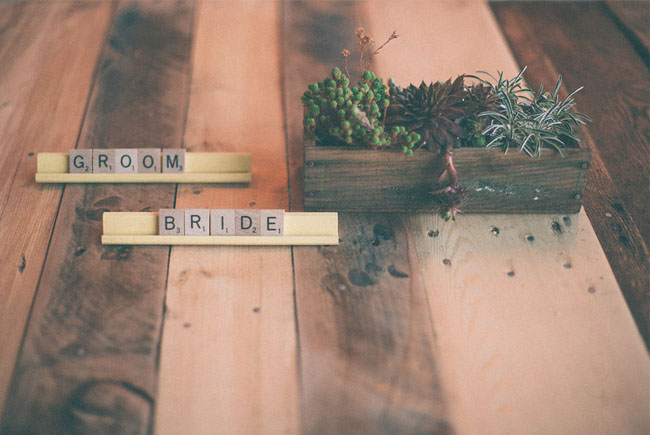 scrabble bride and groom letters