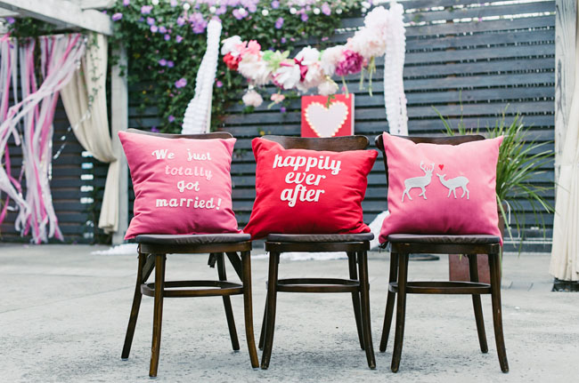 just married pillows
