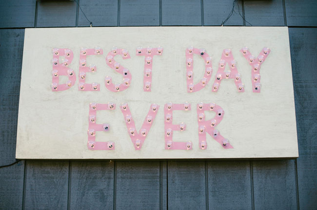 best day ever light sign