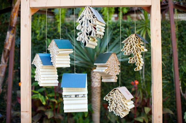 pleated book decor