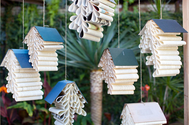 pleated book decor
