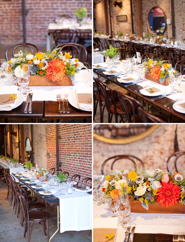 orange centerpieces