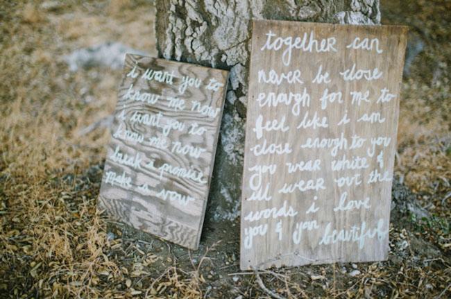 wooden cursive