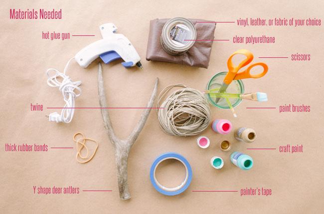 DIY confetti slingshot materials