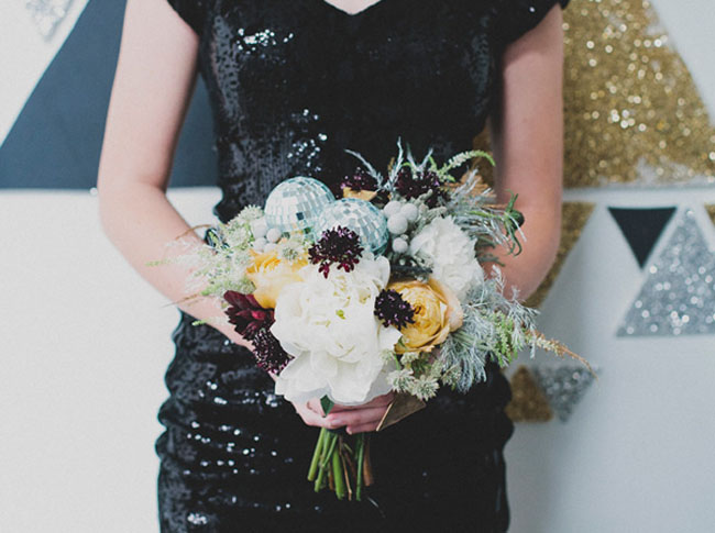 disco ball bouquet