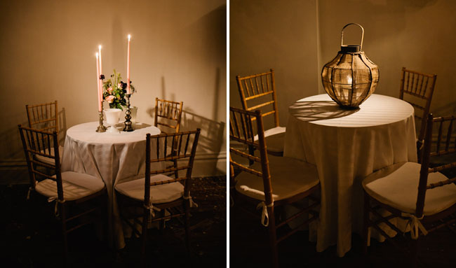 romantic candle table lighting